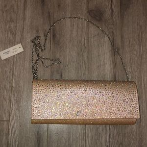 Champagne Sparkle Jeweled Glitter Bag